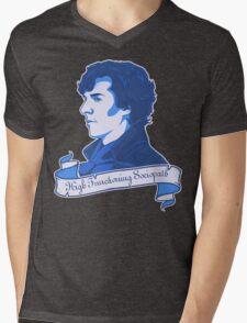 Sherlock Holmes T-shirt Mens V-Neck T-Shirt