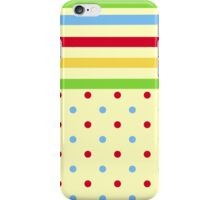 Colorful Stripes and Polka Dots iPhone Case/Skin