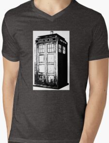 TARDIS! Mens V-Neck T-Shirt
