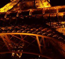 eiffel tower at night Sticker