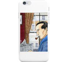 Sherlock Reading iPhone Case/Skin