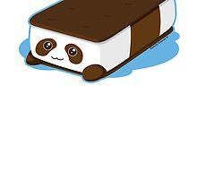 Cute Panda Bar Ice Cream by kimchikawaii