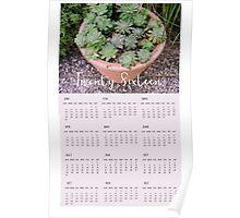2016 Succulent Wall Calendar Poster
