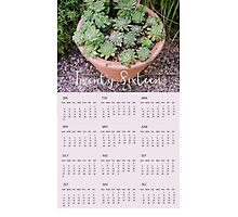 2016 Succulent Wall Calendar Photographic Print