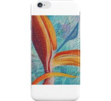 Textile art quilt, Bird of Paradise iPhone Case/Skin
