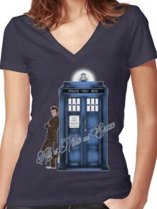 Doctor Who - All of Time and Space T-shirt Women's Fitted V-Neck T-Shirt