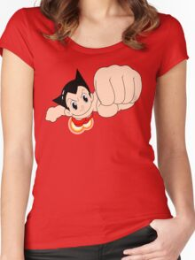 Astro Boy punch Women's Fitted Scoop T-Shirt