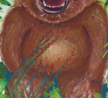 Oliver Bear roaring like a lion Sticker