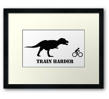 T-Rex Bike Training Framed Print