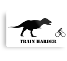 T-Rex Bike Training Metal Print
