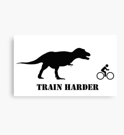 T-Rex Bike Training Canvas Print