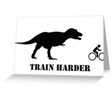 T-Rex Bike Training Greeting Card