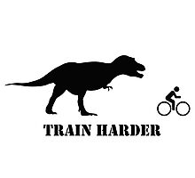 T-Rex Bike Training Photographic Print