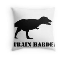 T-Rex Bike Training Throw Pillow