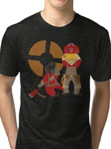 Engie and Pyro! Tri-blend T-Shirt