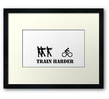 Zombie Bike Training Framed Print