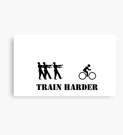 Zombie Bike Training Canvas Print