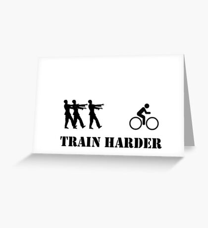 Zombie Bike Training Greeting Card