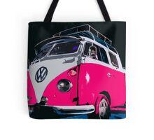 VW camper Pinky  Tote Bag