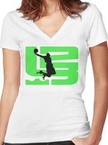 lebron dunkman 9 Women's Fitted V-Neck T-Shirt