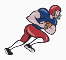 American Football Running Back Rushing T-Shirt