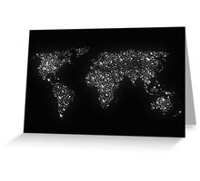 World map city light Greeting Card
