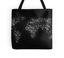 World map city light Tote Bag