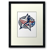 Basketball Player Fast Break Lay-Up Woodcut Framed Print