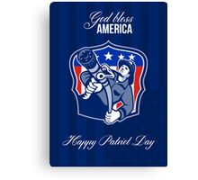 God Bless America Happy Patriot Day Poster Canvas Print