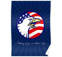 Thinking of You on Patriot Day Card Poster