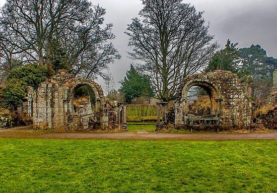 Jervaulx Abbey Ruins by Trevor Kersley