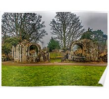 Jervaulx Abbey Ruins Poster