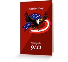 Patriot Day We Remember 911 Poster Card Greeting Card