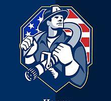 Happy Patriots Day God Bless America Retro by patrimonio