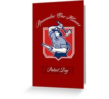 Fireman Remember Our Heroes Poster Greeting Card