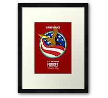 In Remembrance Patriots Day Retro Poster Framed Print