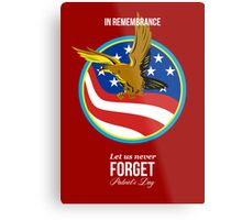 In Remembrance Patriots Day Retro Poster Metal Print