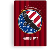 We Remember 911 Patriot Day Retro Poster Canvas Print