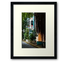 San Juan, Puerto Rico - Gorgeous Caribbean Colors and Flora Framed Print