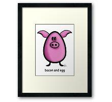bacon & egg Framed Print
