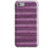 Violet cloth material iPhone Case/Skin