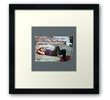 Enjoy life's journey  Framed Print