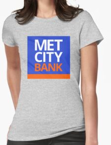 MET CITY BANK | Peep Show Womens Fitted T-Shirt