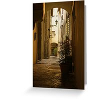Wandering Around the Lanes and Alleys of Florence, Italy Greeting Card