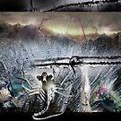 Cow in Alien Ice Mirage by Peta Duggan