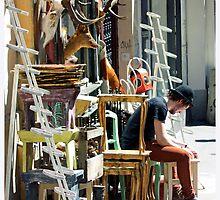 Paris Street Vendor by Claire McCall