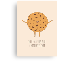 Chocolate Chip Cookie Canvas Print