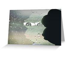 Pepe The Sad Frog Rainy Reflection Greeting Card