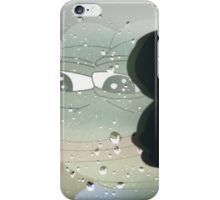 Pepe The Sad Frog Rainy Reflection iPhone Case/Skin