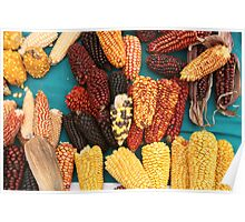 Ears of Corn at the Market Poster